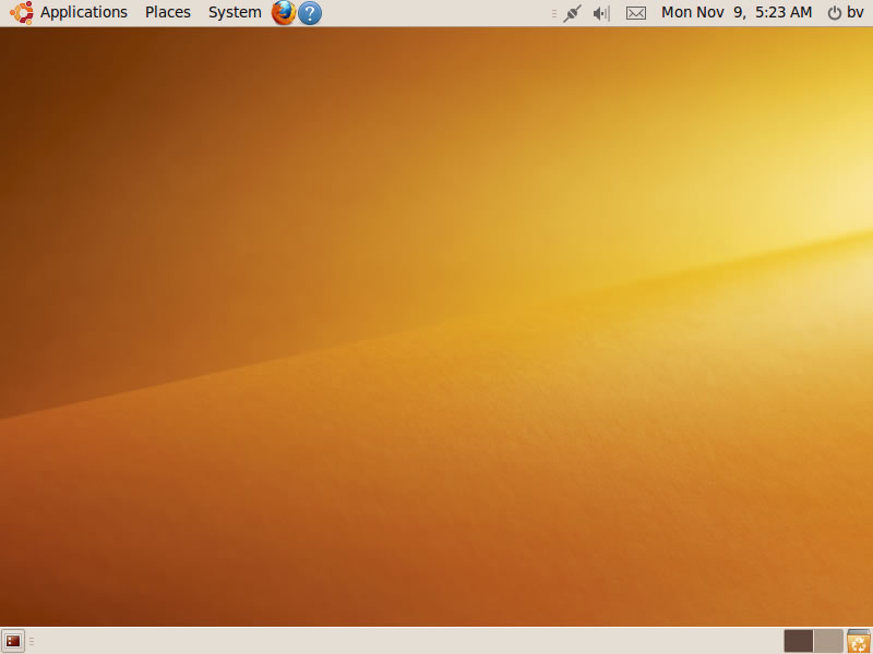 Ubuntu 9.10 Install Guide The Desktop