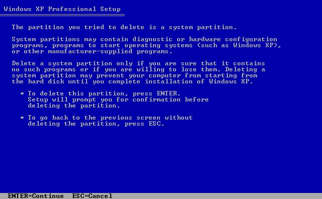 5) Warning screen: (Image 1.5)