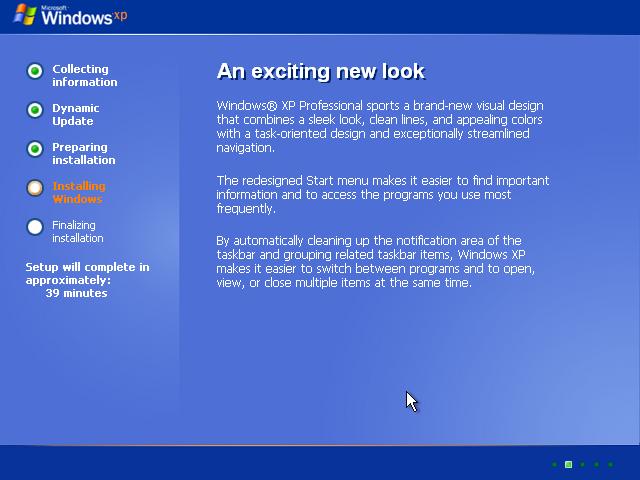 17) Windows XP Installation: (Image 2.2)