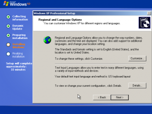 19) Region and Input Languages: (Image 2.4)