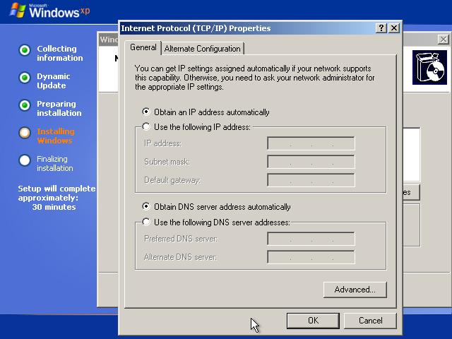 28) TCP/IP Properties: (Image 3.4)