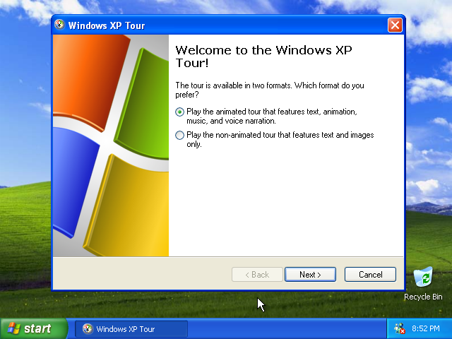 38) Windows XP Tour dialog: (Image 5.2)