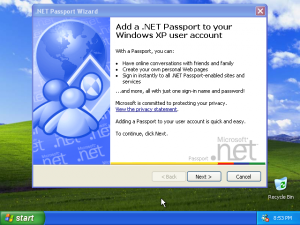 39) .NET Passport Wizard: (Image 5.3)