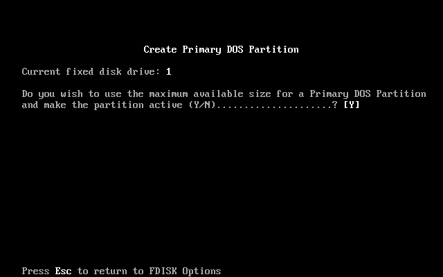 FDISK Usage Guide Image 1.11