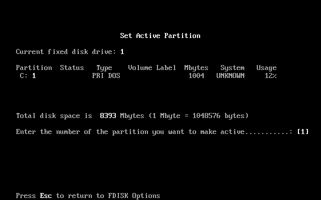 FDISK Usage Guide Image 1.16
