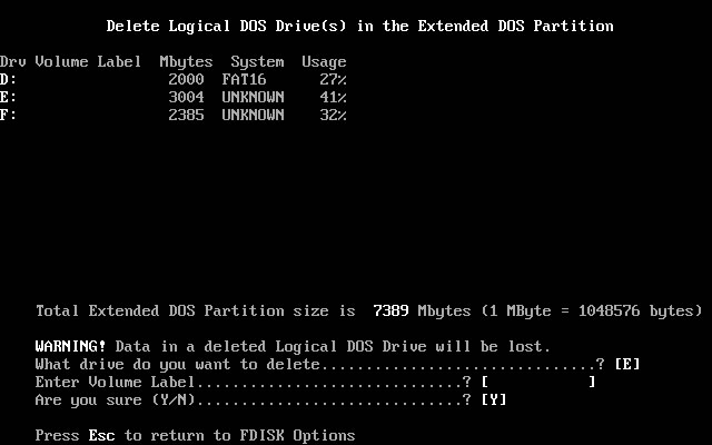 FDISK Usage Guide Image 1.7