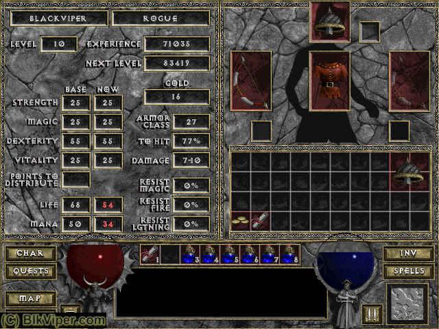 Diablo Rogue: BlackViper