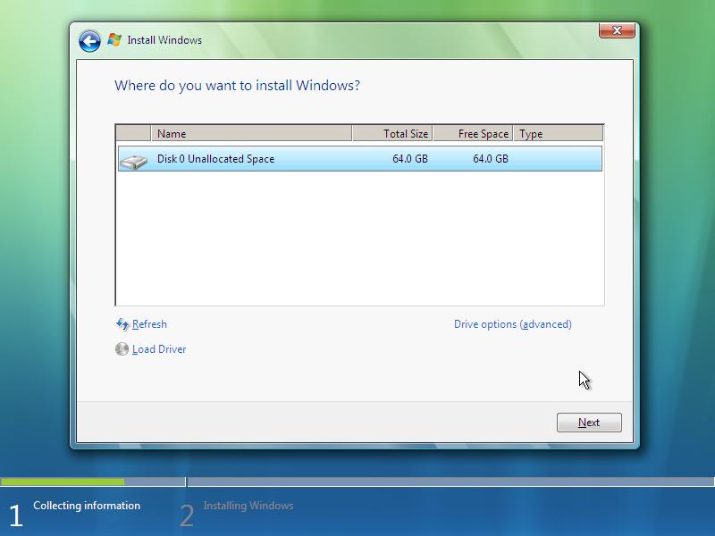 9) Hard Drives: (Windows Vista Install Guide Image 2.4)