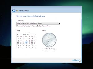 18) Time Settings: (Image 4.3)