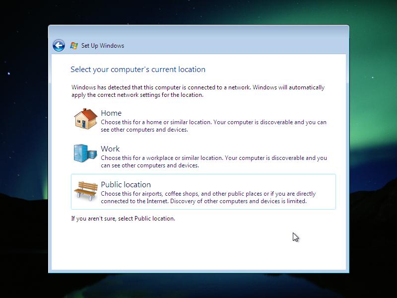19) Network Configuration: (Windows Vista Install Guide Image 4.4)