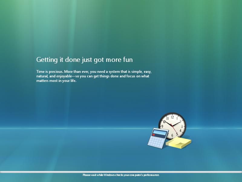 21) PC Performance: (Windows Vista Install Guide Image 5.1)