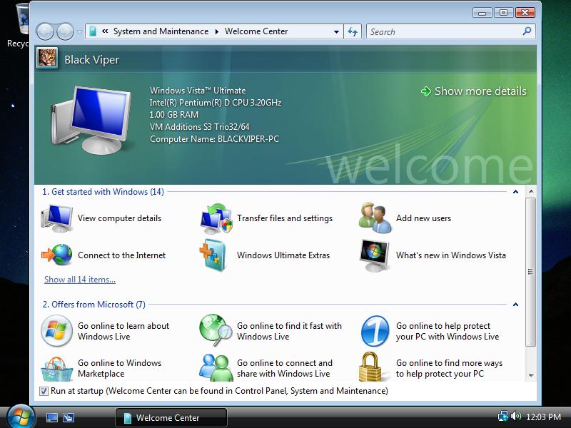 25) Welcome Screen: (Windows Vista Install Guide Image 5.5)