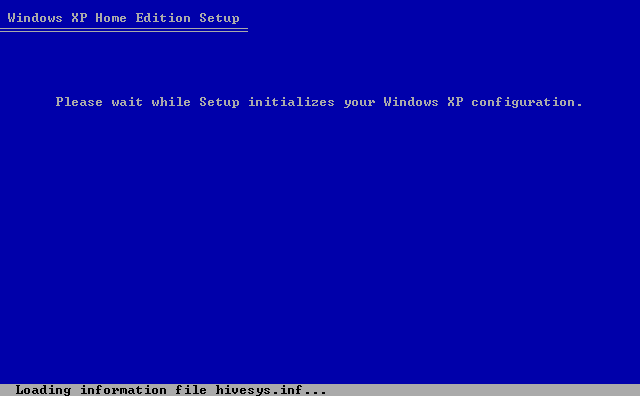 15) Creates various information files: (Windows XP Home Install Guide Image 1.15)