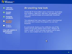 18) Windows XP Installation: (Image 2.2)