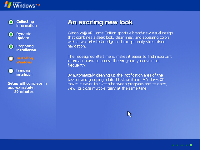 18) Windows XP Installation: (Windows XP Home Install Guide Image 2.2)
