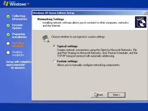 25) Network Settings Dialog: (Image 3.1)