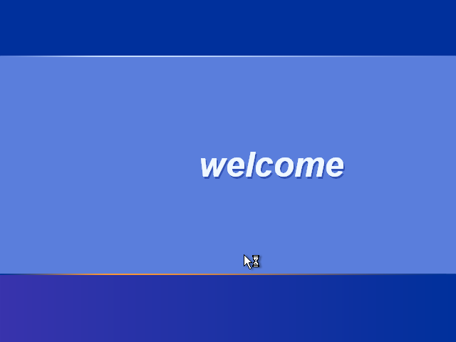 28) The Welcome Screen: (Windows XP Home Install Guide Image 3.4)