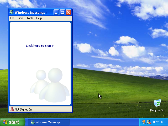 34) Windows Messenger: (Windows XP Home Install Guide Image 4.5)