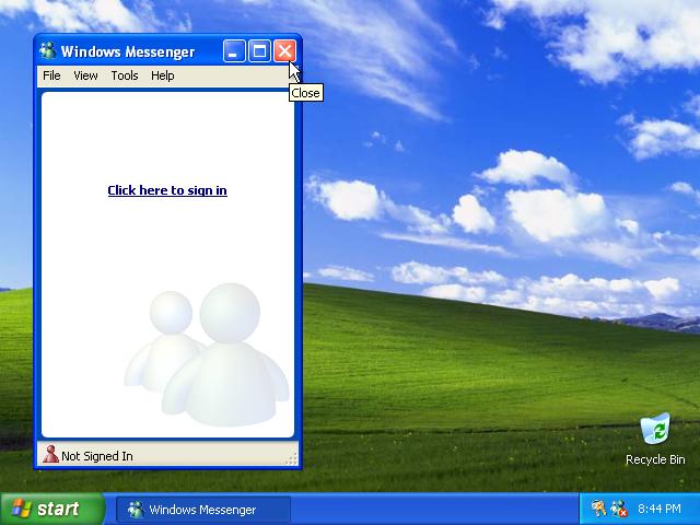 37) Close Messenger: (Windows XP Home Install Guide Image 4.8)